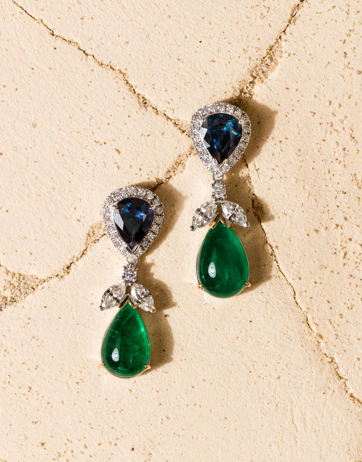 webPaul-Syjuco-drop-earrings-of-sapphires-emerald-cabochons-and-diamonds-in-white-gold
