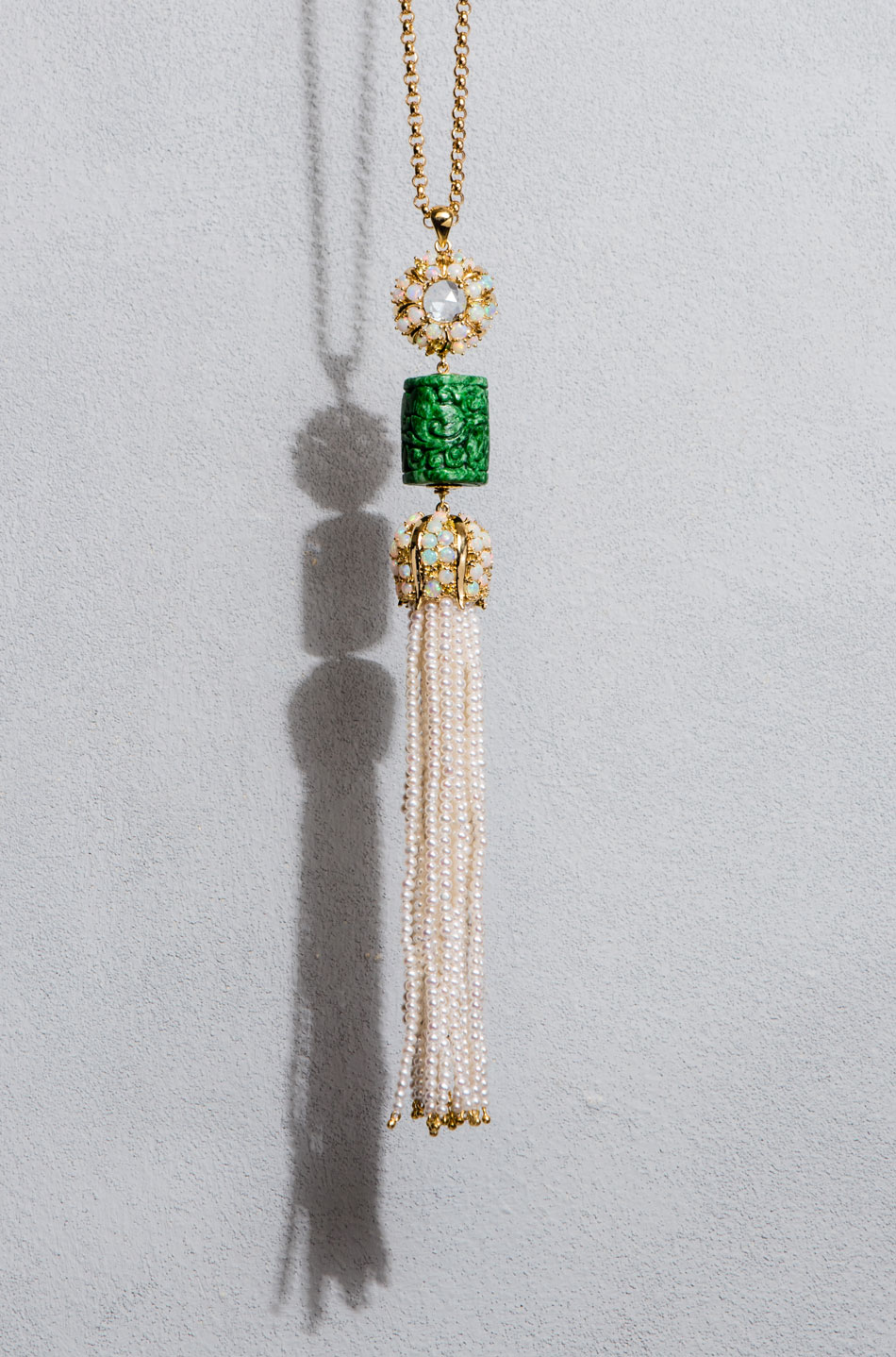 webPaul-Syjuco-tassel-pendant-of-sapphires-Ethiopian-opals-jadeite-carving-and-seed-pearls-in-gold
